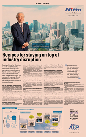 Recipes for staying on top of industry disruption / Financial Times (Nov. 8, 2019)
